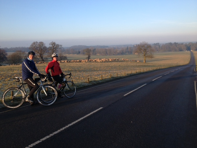 Early Sunday bike ride the Woburn Deer Park
